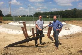 Baustellenbesuch im Windpark Giersberg-Ost